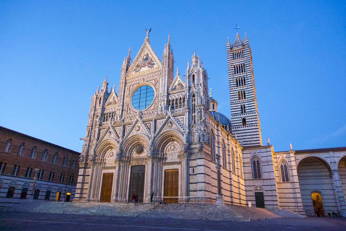 Toscana nähtävyydet Siena katedraali